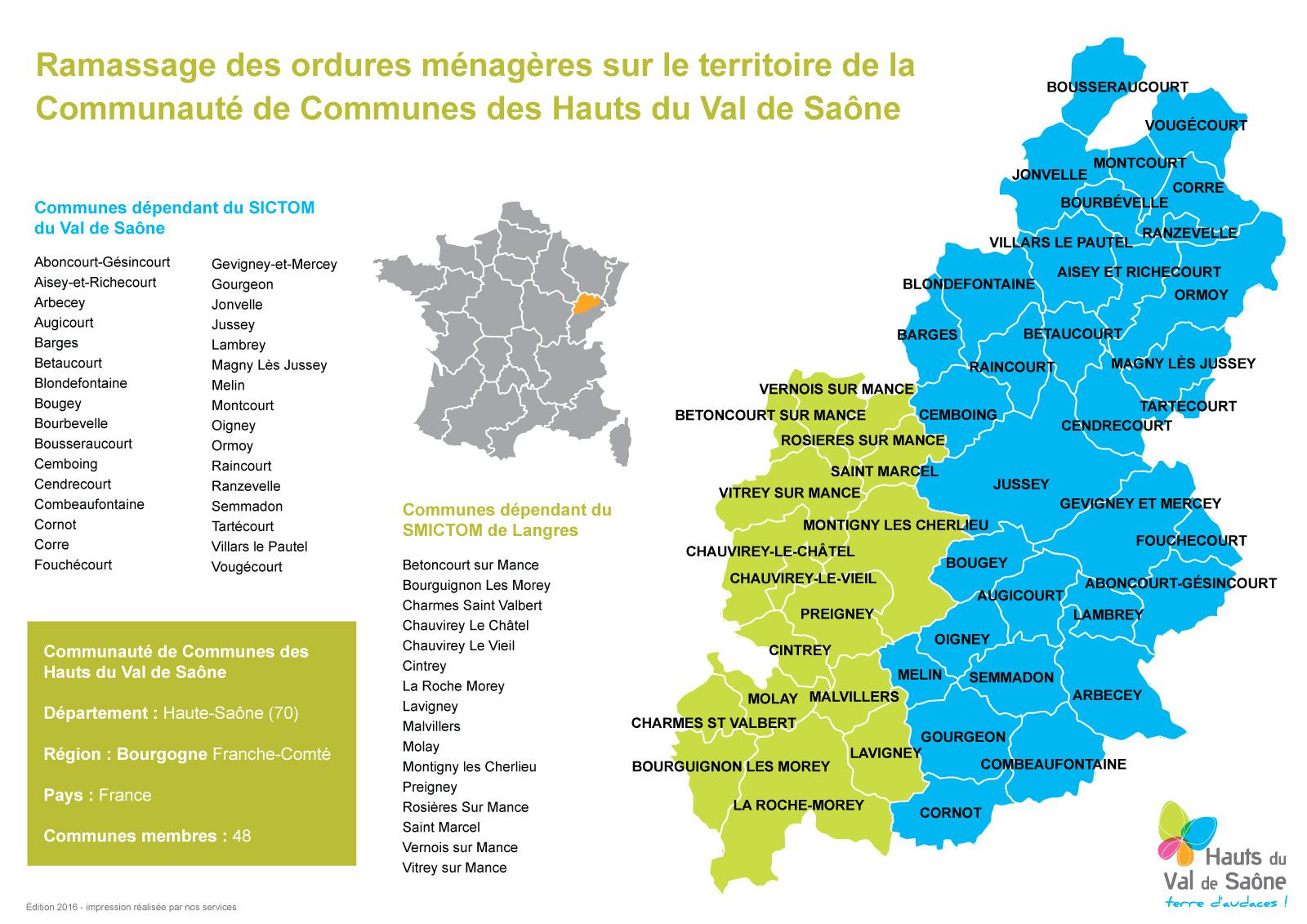 Calendrier Sictom.Communaute De Communes Des Hauts Du Val De Saone Cchvs